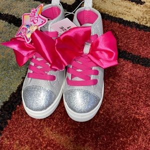 Girls glitter and bow Sz:11